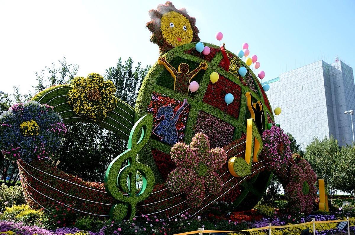 北京东单路口-----立体花坛