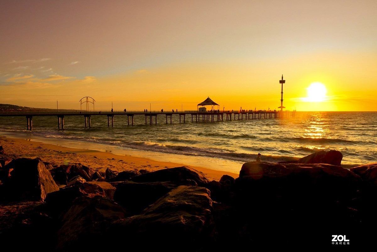 黄昏的海滩