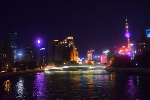 上海中山东一路外滩夜景