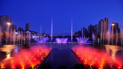 哈尔滨音乐喷泉之夜