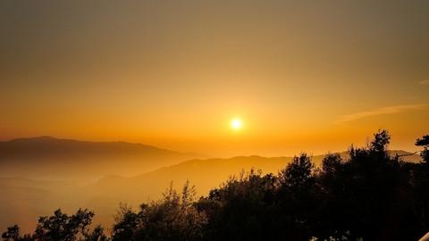 亚布力山顶观日出