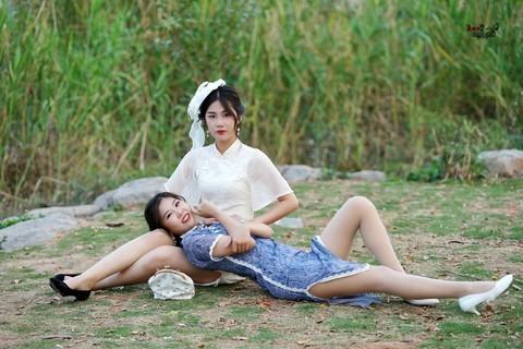 【洋装旗袍亲姐妹】---宝儿、乐乐