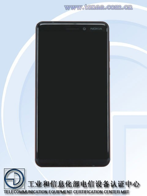 诺基亚6(2018)真机图片现身工信部:全面屏,后置指纹识别