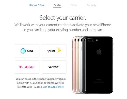 美国各大电信运营商的苹果iPhone7/Plus,都有什么区别