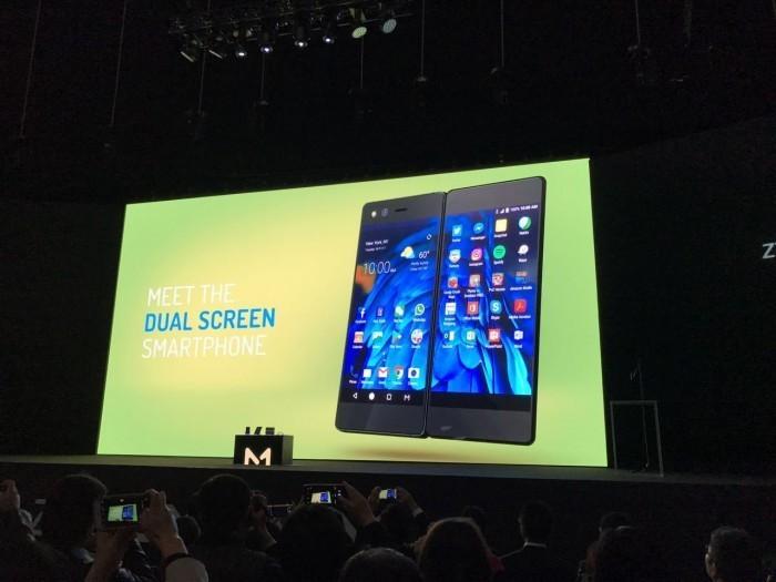 中兴发布折叠智能手机AXON M 放话智能手机行业将产生剧变