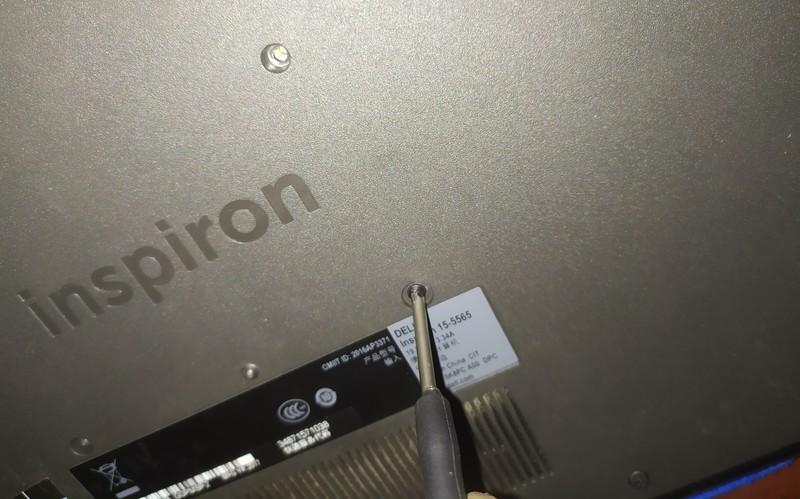 最便宜的二手1080p+ddr4笔记本,戴尔5565拆机更换内存和电池。