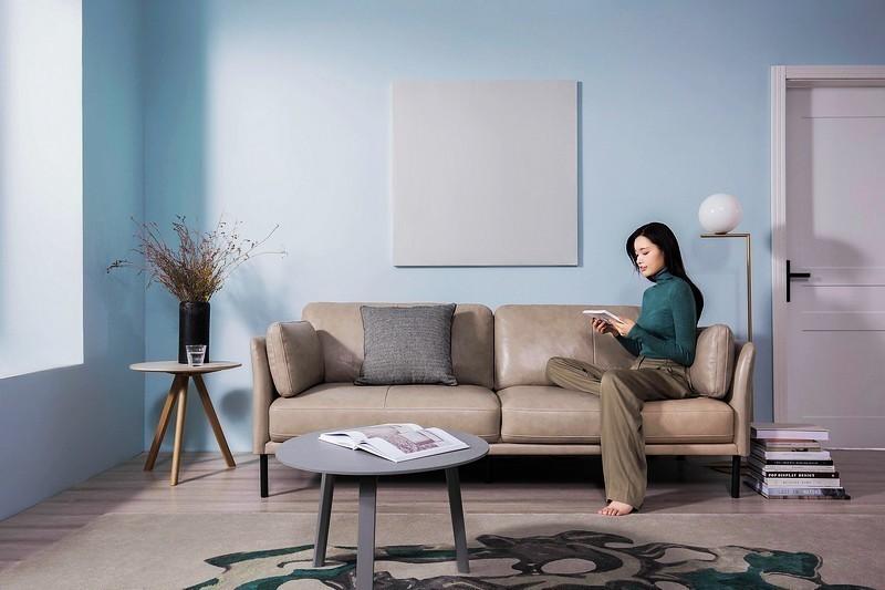舒适的生活是如此简单 样子生活爵士真皮沙发