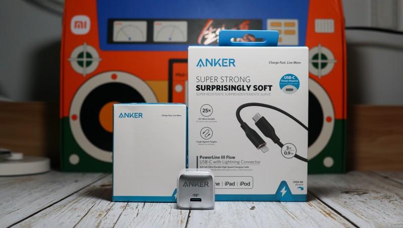 """智能温控更安""""芯""""的ANKER 20W快充充电器"""