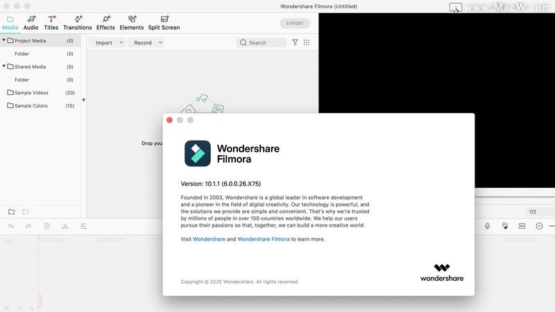 Wondershare Filmora for Mac(喵影工厂)v10.1.1.20免激活版