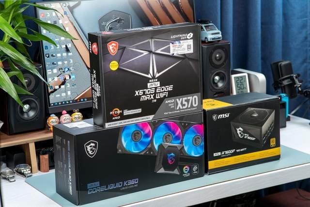微星X570S主板领衔,电源水冷散热三件套助力打造开放式桌面主机